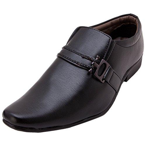 Fbt Men's 104 Black Formal Slip-On Shoes - 7