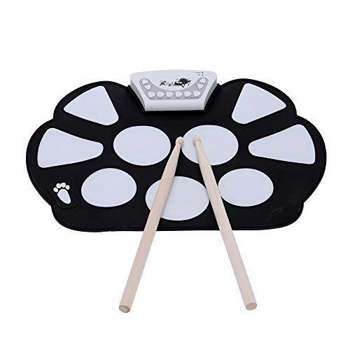 andoer-portable-professional-drum-electronic-roll-up-drum-pad-kit-silicon-foldable-with-stick-record