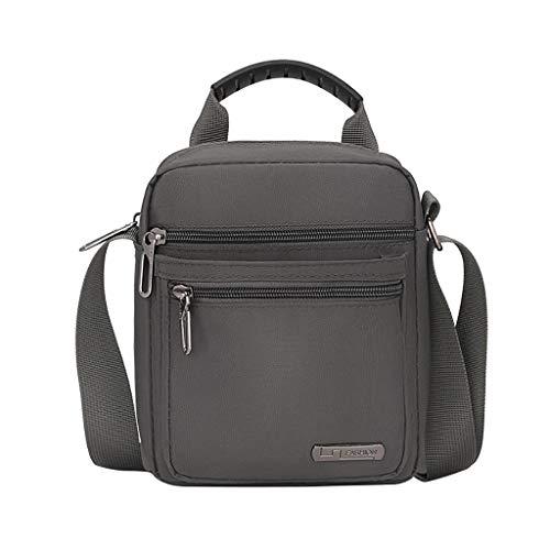 TAMALLU Männer Einfache Schulter Crossbody Taschen Hübsche Oxford Reise Party Rucksack Handtasche(Grau)