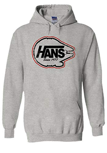 Hans Since 1977 Skate Star Wars Cool Novelty Grey Men Women Unisex Hooded Sweatshirt Hoodie-XXL