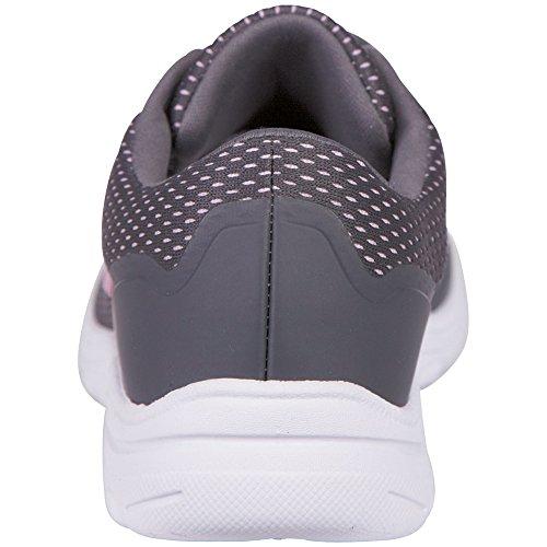 Kappa Damen Preppy Sneakers Grau (1327 anthra/l´pink)