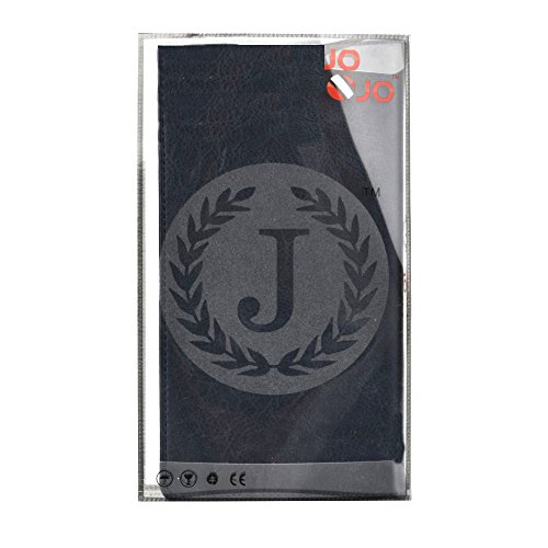 J Cover Bark Series Leather Pouch Flip Case For Panasonic T30 Dark Blue