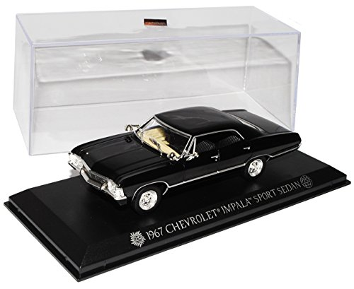 Chevrolet Impala Sport Sedan Limousine Schwarz Supernatural Join The Hunt 1965-1970 1/43 Greenlight Modell Auto (Auto-supernatural)