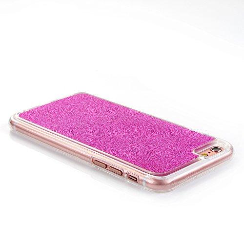 """iPhone 6s Handyhülle, Bling Glitzer Funkeln CLTPY iPhone 6 Durchsichtig Dünne Matte Gel Cover Schlanke Hybrid Stoßdämpfende & Kratzfeste Gummi Case mit Kippständer für 4.7"""" Apple iPhone 6/6s + 1 x Sch Rote Rose"""