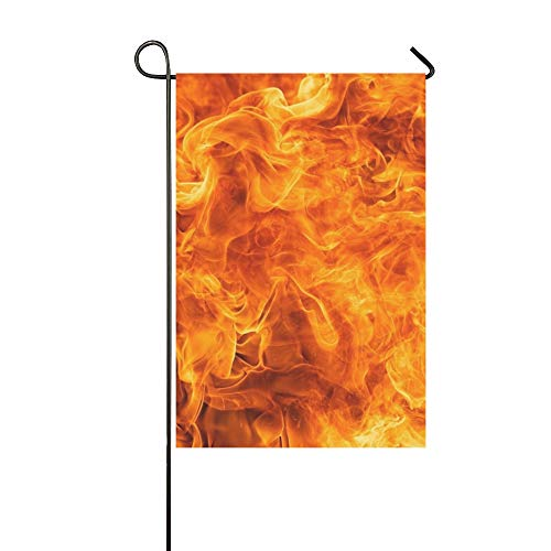 JOCHUAN Wohnkultur Blaze Feuer Flamme Textur Garten Flaghouse Yard Flaggarden Yard Decorationsseasonal Willkommen Outdoor Flagge 12X18 Zoll