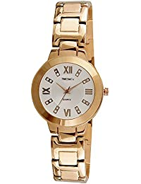 Timesmith Premium Limited Edition White Dial Gold Stainless Steel Strap Branded Anaog Watch For Women TSM-123