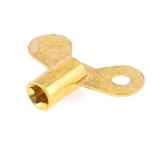 El agua del grifo grifo perilla llave de contacto 7,3mm Orificio cuadrado dorado (Juegos Llaves Para)