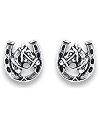 Heather Needham Silver - Large Sterling Silver Cubic Zirconia Stud Earrings - SIZE: 10mm. Gift Boxed 5771CZ/B41HN vx1BN7