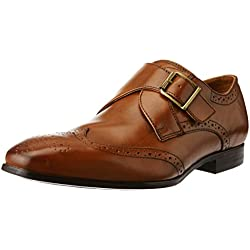 Ruosh Men's Tan and Light Brown Leather Formal Shoes