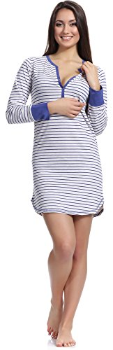 Merry Style Damen Nachthemd 1188 Blau-1A