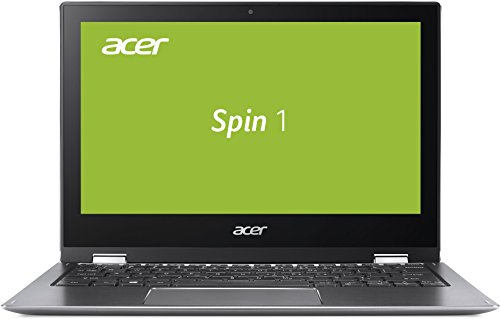 Acer Spin 1 (SP111-32N-C9Q9) 29,5 cm (11,6 Zoll Multi-Touch FHD IPS) Convertible Notebook (Intel Celeron N3350, 4 GB RAM, 32 GB eMMC, Intel HD, HDMI, USB 3.0, Bluetooth 4.0, Win 10) silber