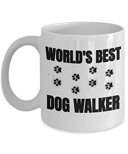 Worlds Best Dog Walkers Mug Unique Dog Walker Thank You Gift for Dog Walking Services him her Gifts Coffee Boyfriend Girlfriend Wife Husband Best Friends Female Male Woman Women Men Man -