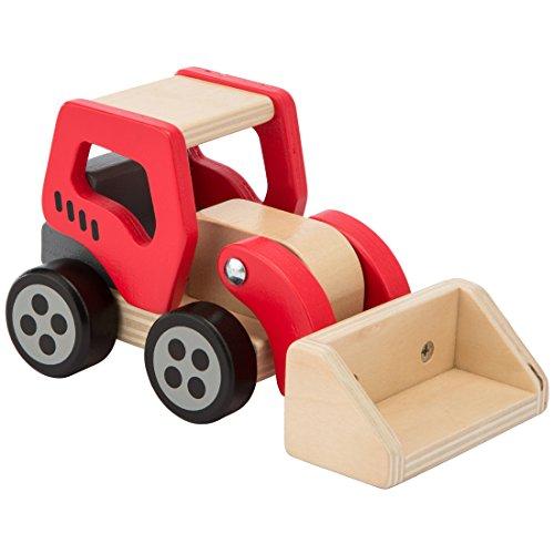 Ultrakidz Baustellenfahrzeuge aus Holz im 4er-Set, Radlader