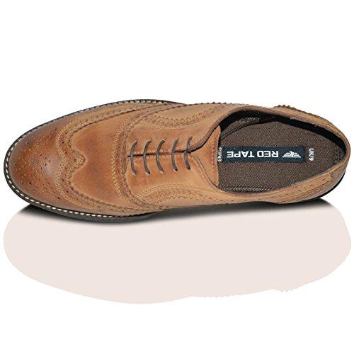 Red Tape brouette richelieu en cuir à lacets pour chaussures Marron Patiné - Marron