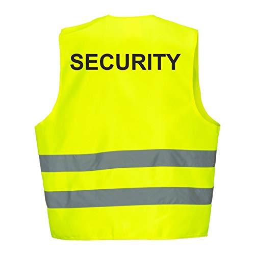 Fassbender-Druck Warnweste GELB Sicherheitsweste Weste Security (Security 1 Weste)