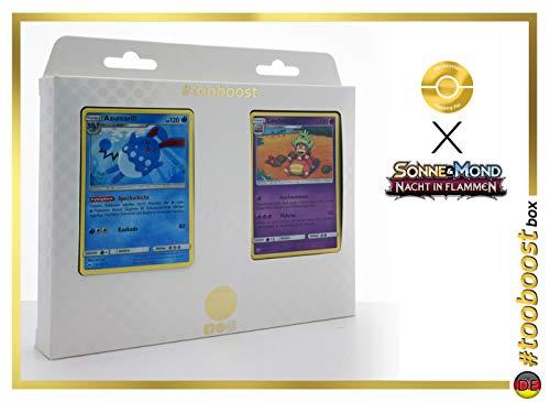 Azumarill 35/147 Y Laschoking (Slowking) 48/147 - #tooboost X Sonne & Mond 3 Nacht in Flammen - Box de 10 Cartas Pokémon Aleman + 1 Goodie Pokémon