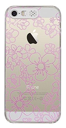 Trendz Hard Shell Hülle LED Flash Farbwechsel Case Cover mit Beleuchtung für iPhone 5/5S/SE - Blumen Design Blumen Design