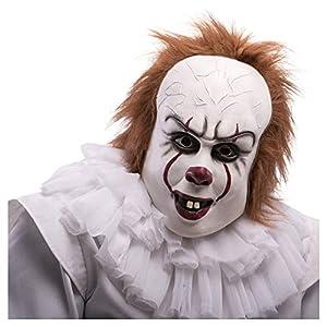 Carnival Toys Payaso Horror de látex C/EL Pelo con Estribo máscara 196,, 8004761013516