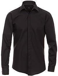 Venti - Evening - Slim Fit- Festliches Bügelfreies Herren Hemd, schwarz, weiß oder creme (001840)