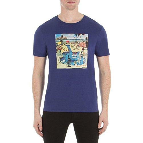 ben-sherman-t-shirt-ben-sherman-pool-party-m-bleu
