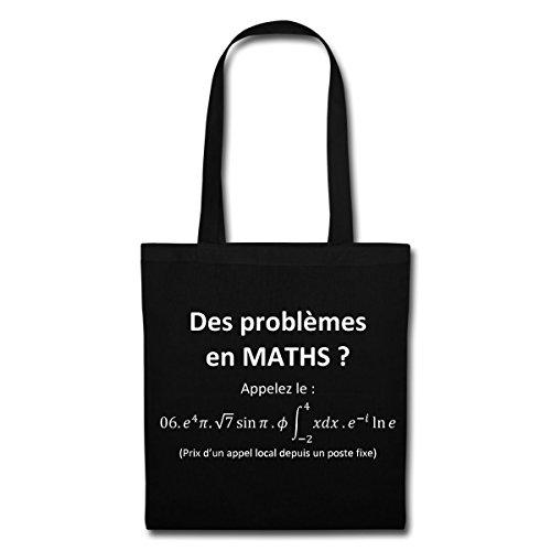 Spreadshirt Des Problèmes En Maths Tote Bag, noir