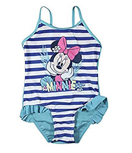 Minnie - Bañador para niña 1 Pieza, Color Azul Azul 4 años