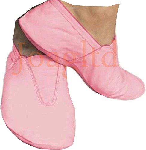 Joagltd - Zapatillas de danza de Piel para hombre rosa rosa 34 EU, color rosa, talla 34 EU