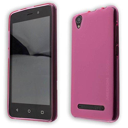 caseroxx TPU-Hülle für Medion Life E4504 MD 99537, Tasche (TPU-Hülle in pink)