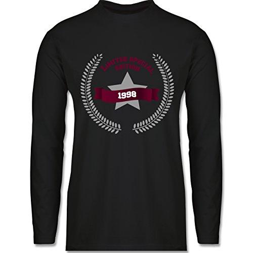 Geburtstag - 1998 Limited Special Edition - Longsleeve / langärmeliges T-Shirt für Herren Schwarz