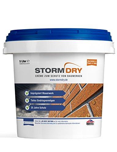Stormdry Creme zum Schutz von Bauwerken 5L - Die einzige BBA zertifizierte Hydrophobierung - 25 Jahre Fassadenschutz gegen Feuchtigkeit
