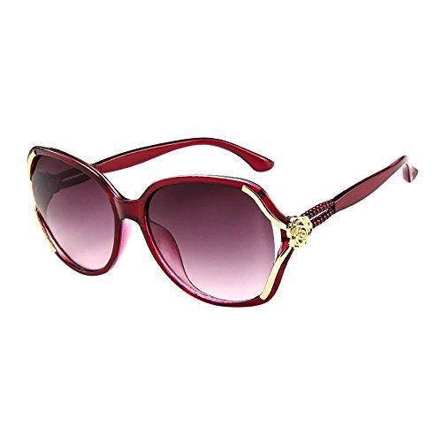 Lazzboy Herren Damen Rose Big Frame Retro Vintage Sonnenbrillen Brillen Sonnenbrille Polarisiert Augenschutz Brille, Schwarz Für Fahren, Angeln, Reisen, Outdoor(G)