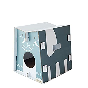 Mobilier de jeu et couchage pour chat design avec griffoir intégré (éléphant)