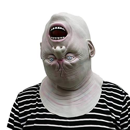 Morbuy Gruselig Halloween Maske, Neuheit Erwachsene Latex Horror Dämon Masken Perfekt für Fasching Karneval Kostüm Weihnachten Halloween Cosplay Kostüme Für Männer und Frauen - Creepy Doll Kostüm Für Erwachsene