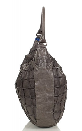 FREDsBRUDER sac besace effet gaufré en cuir ciré doux FS 16 (36 x 37 x 10 cm) Braun (Cognac)