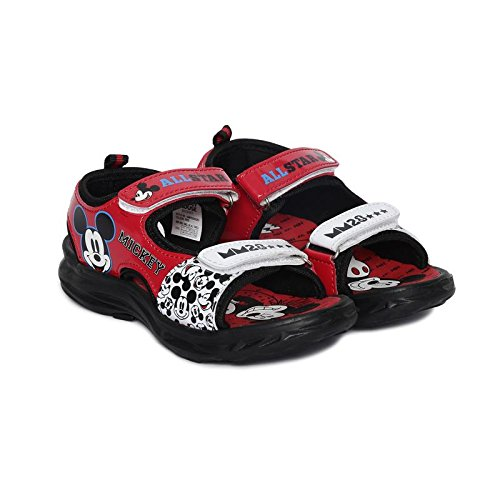 Mickey Boy's Red Sandals-12 Kids UK/India (31 EU)(MMPBSS0293)