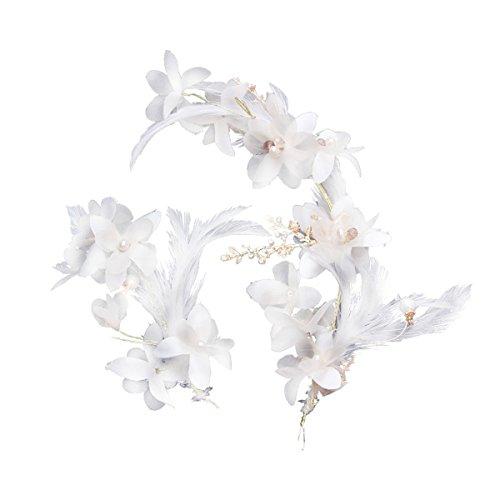 Olici MDRW-Bridal Hochzeit Ballsaal Haarnadel Haarschmuck Handgefertigte Braut Kopfbedeckung Weiße...