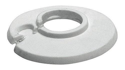 HandWerk 19290 3 10 Scharnierrosetten 22mm / 1/2 Zoll, Weiß Außendurchmesser 49 mm   10er Set, 18 mm oder 3/8 -