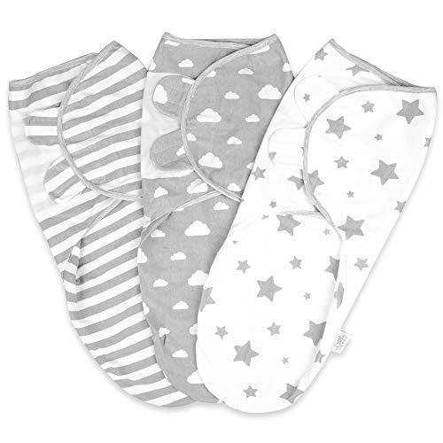 Pucksack Baby Wickeldecke Für Neugeborene von 0-3 Monate Swaddle Decke aus 100{6b391aa36c1cc830ad58a5404526b86294785d951770d0d0a74f12391e869894} Bio-Baumwolle