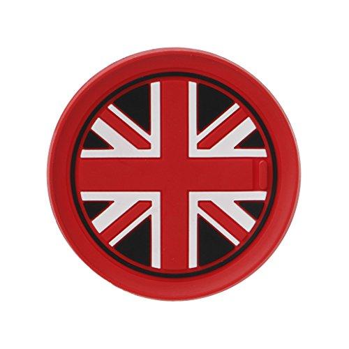 Yiwann Untersetzer, 7,7 mm, Kieselgel-Autotasse, Anti-Rutsch-Matte für BMW Mini Cooper 2011 2012 2013 R55 R56 Geschenk rot - Pub Coaster Set