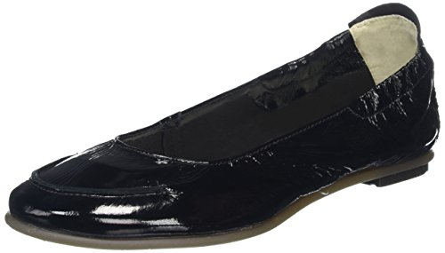 FLY London Damen Fahd974fly Peep-Toe Schwarz (Black 000)