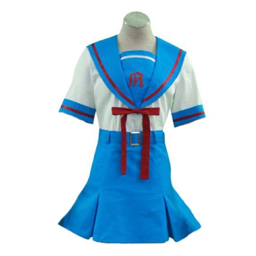 Kostüm Mädchen Senior - Dream2Reality japanische Anime The Melancholy of Haruhi Suzumiya Cosplay Kostuem - Senior High School Maedchen Summer Uniform Kid Size Large