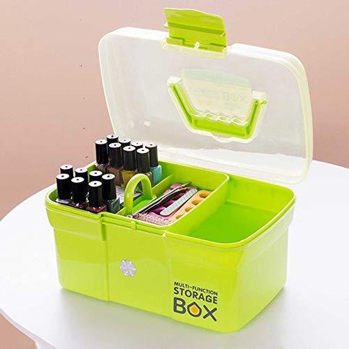 Three layer multi-function portable nail tool box