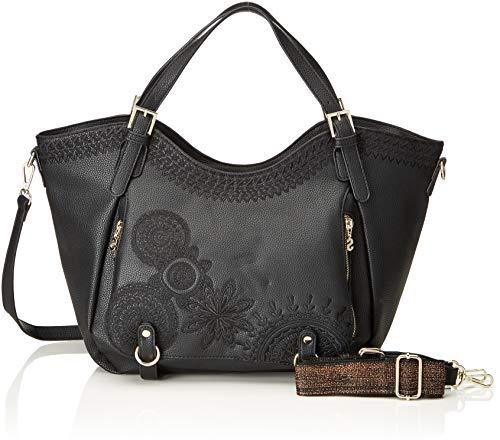 Desigual - Bols_dark Amber Rotterdam, Shoppers y bolsos de hombro Mujer, Negro,...