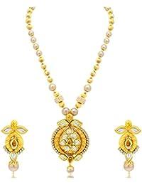 Sukkhi Royal Gold Plated Kundan Necklace Set For Women