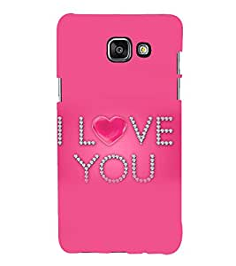 printtech Love Heart You Back Case Cover for Samsung Galaxy A7 (2016)