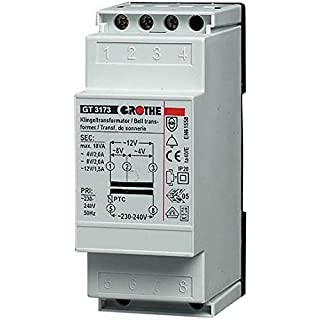 Grothe Klingel Transformator 8/12 V AC, 1,3/1 A, GT 3139, 1512011