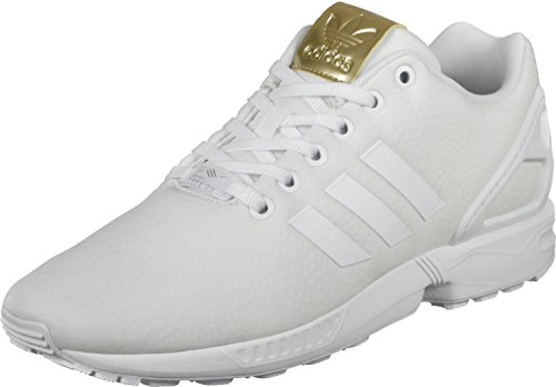 adidas Zx Flux, Scarpe da Ginnastica Basse Donna Bianco (Footwear White/footwear White/gold Metallic)