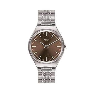 Swatch Reloj Analógico para Mujer de Cuarzo con Correa en Acero Inoxidable SYXS112GG