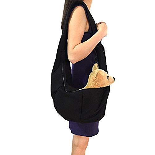 YOAI Pet Tragetasche Transporttasche Pet Sling Carrier Bag Verstellbare Haustier Hund Katze Tasche Rucksäcke Hundetasche Tragetücher für Kleine Hunde und Katzen Schwarz