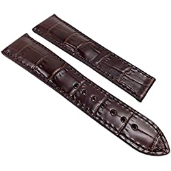 Maurice Lacroix Pontos Replacement Band Watch Band Leather Lousiana-Croco-look dark brown 21992F, Abutting:22 mm